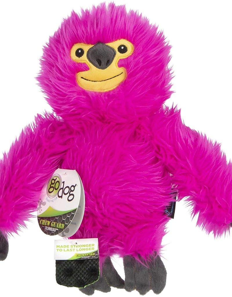 Worldwise/QPG/GoDog GoDog Fuzzy Pink Sloth Dog Toy Large
