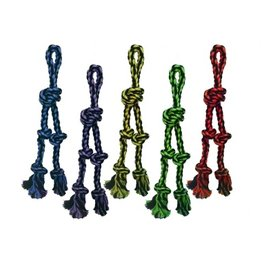 MultiPet Multipet Nuts for Knots Tug w/ 2 Danglers Dog Toy 15""