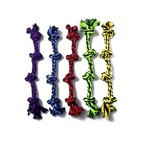 """MultiPet Multipet Nuts For Knots 4-Knot Rope Dog Toy 25"""""""