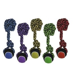 "MultiPet Multipet Nuts For Knots Ball Knot w/ Tennis Ball 10"" Dog Toy"