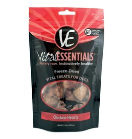 Vital Essentials Vital Essentials Freeze Dried Chicken Hearts Dog Treats 2.5oz