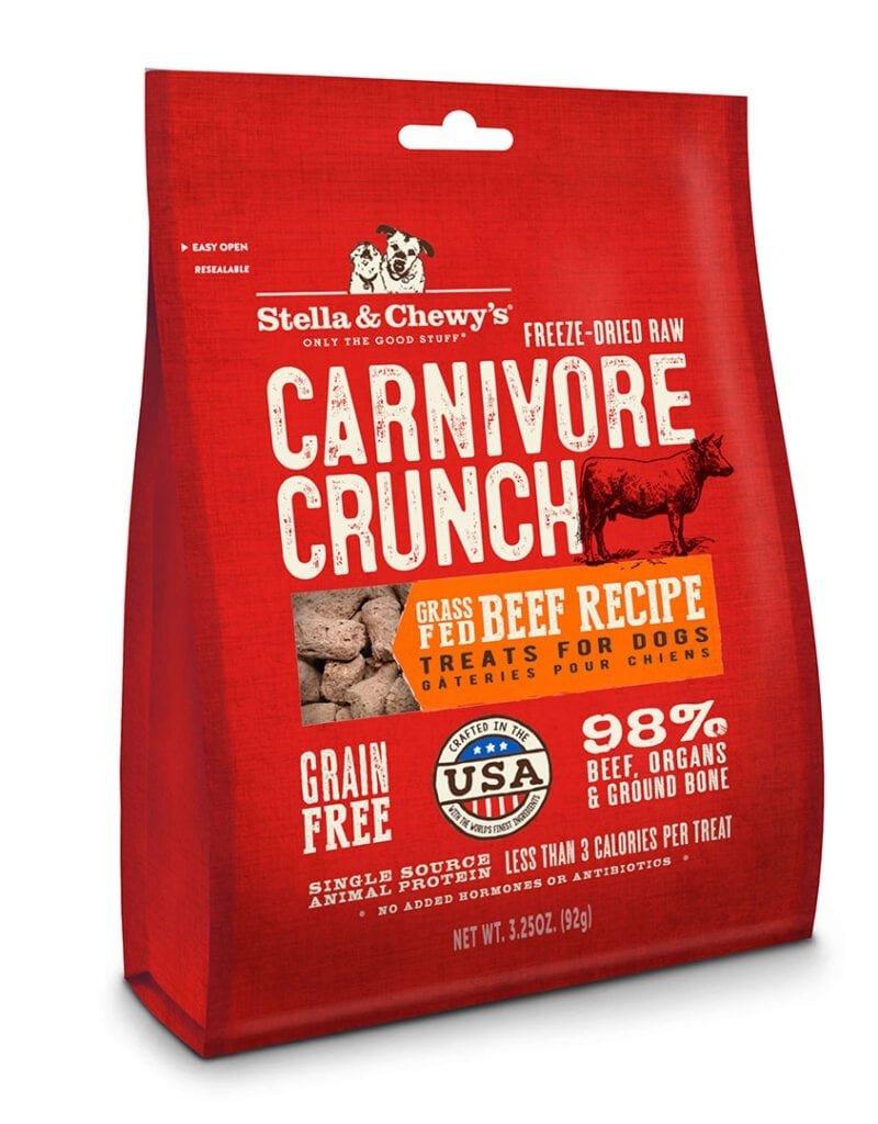 Stella & Chewys Stella & Chewy's Carnivore Crunch Beef Dog Treats 3.25oz