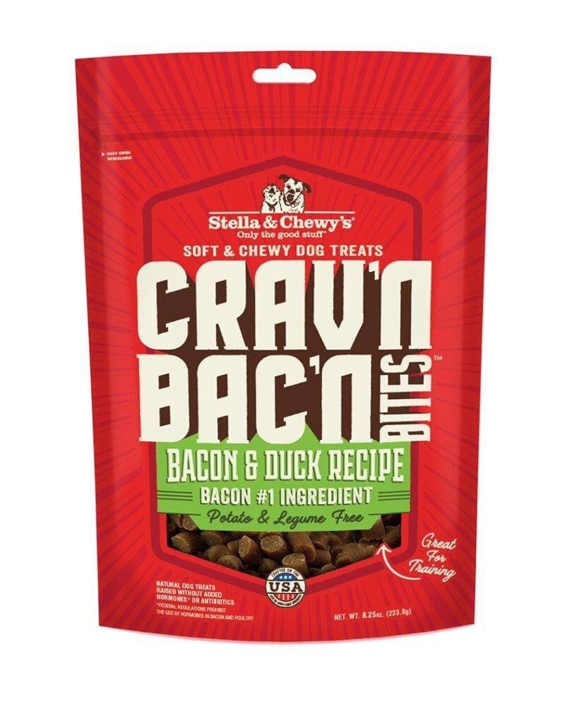 Stella & Chewys Stella & Chewy's Crav'n Bites Bacon & Duck Dog Treats 8.25oz