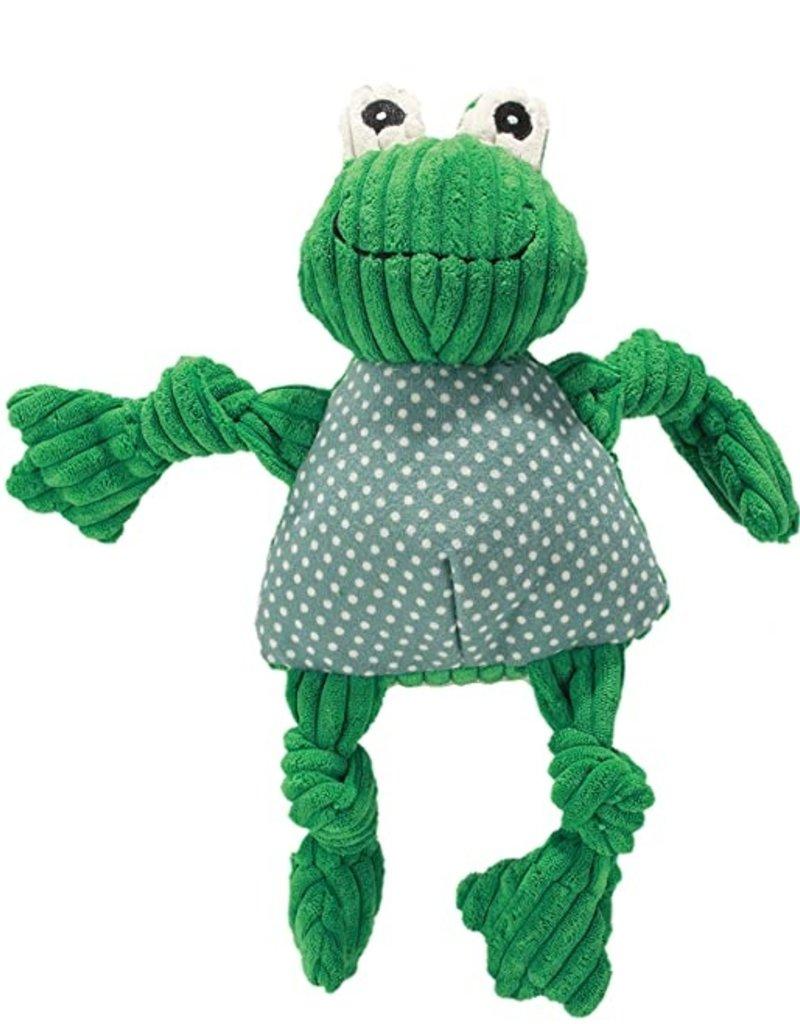 Hugglehounds Hugglehounds Knotties Frog Dog Toy Small