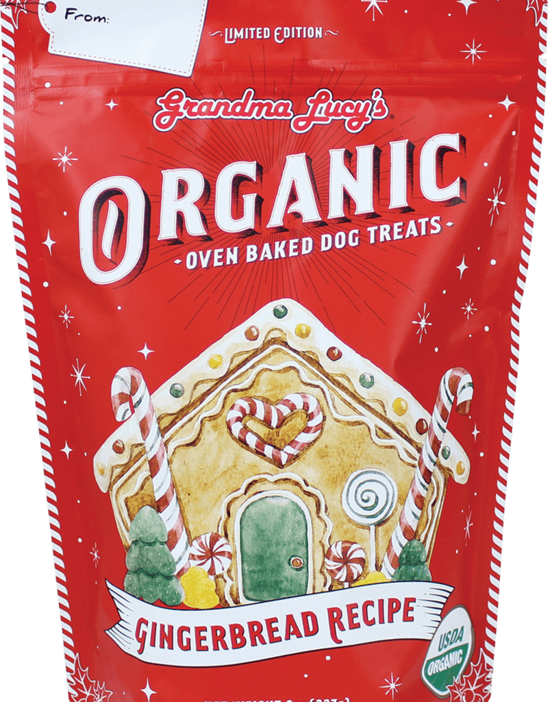 Grandma Lucy's Grandma Lucy's Organic Holiday Gingerbread Dog Treats 8oz