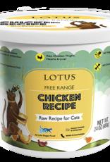 Lotus Lotus Frozen Raw Chicken Cat Food 24oz