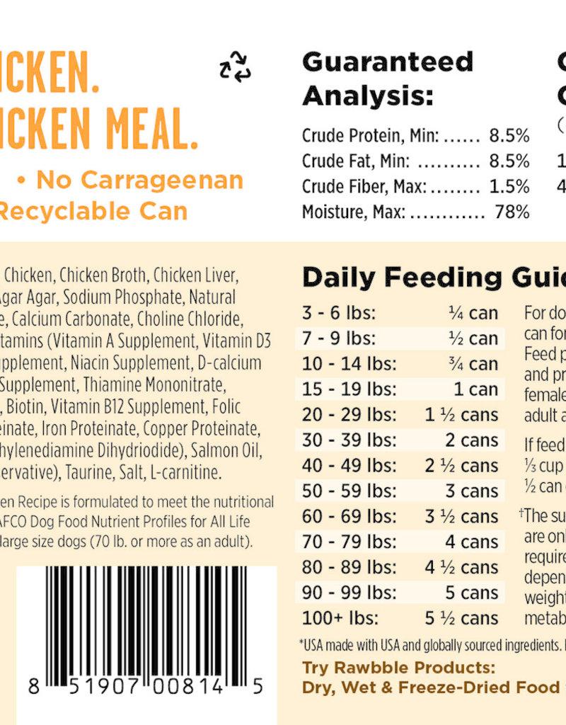 Bixbi Bixbi Rawbble Chicken Canned Dog Food 12.5oz