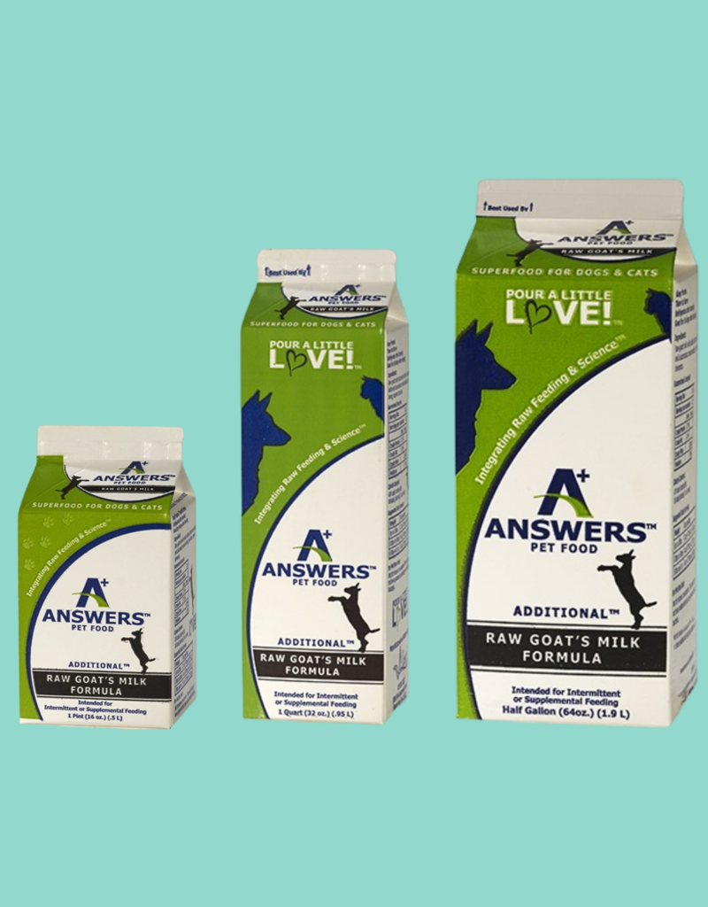 Answers Answers Fermented Raw Goat Milk
