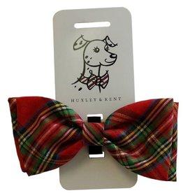 Huxley & Kent Huxley & Kent Bowtie Red Plaid Lurex Dog XL
