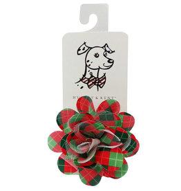 Huxley & Kent Huxley & Kent Collar Bud Christmas Argyle Lrg Dog