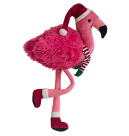 Fluff & Tuff Fluff & Tuff Kitt Flamingo Holiday Dog Toy Large