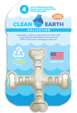 Spunky Pup Spunkypup Clean Earth Crossbones Dog Toy
