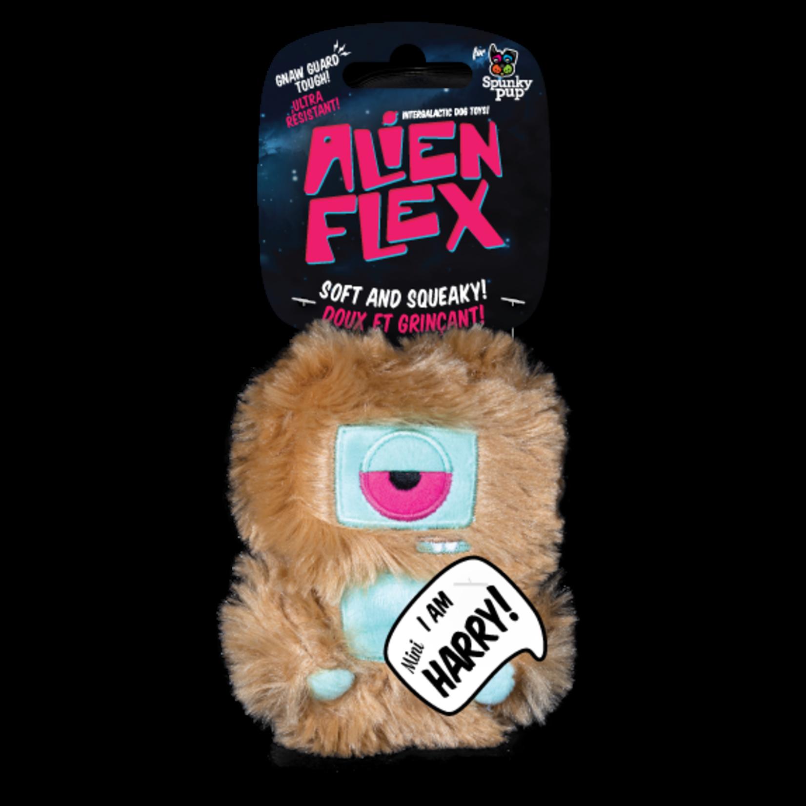 Spunky Pup Spunkypup Alien Flex Mini Harry Dog Toy