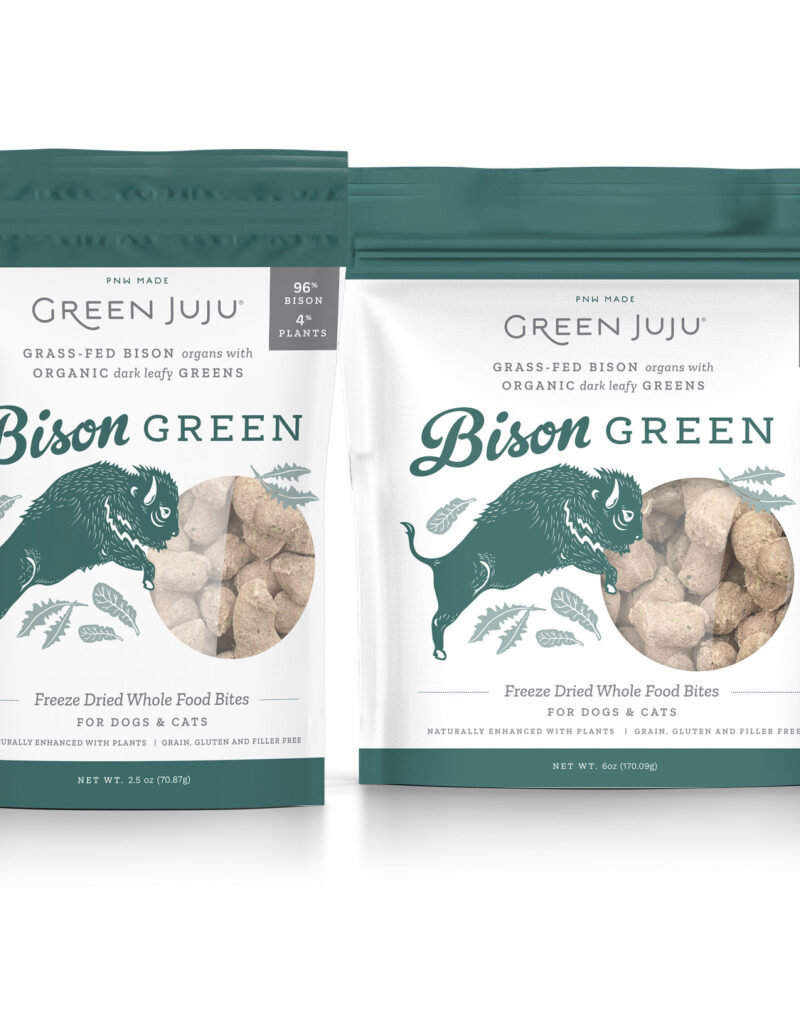 Green Juju Green Juju Freeze Dried Topper Bison Green Dog Treat