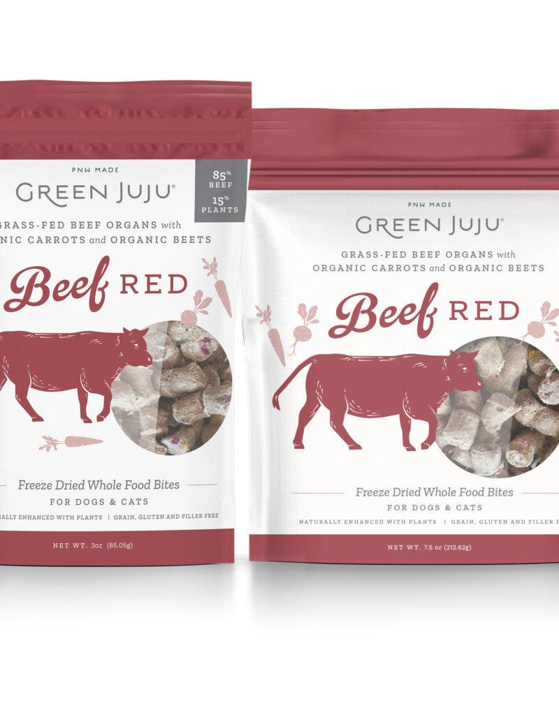 Green Juju Green Juju Freeze Dried Topper Beef Red Dog Treat