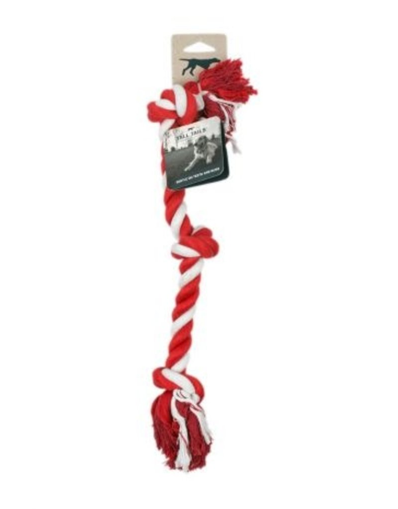 Tall Tails TALL TAILS Holiday Knotted Rope Red & White Dog Toy 18""