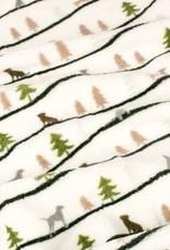 "Tall Tails TALL TAILS Holiday Fleece Blanket Winter Walk 40x60"""