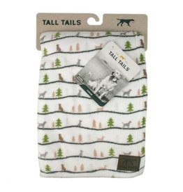 Tall Tails TALL TAILS Holiday Fleece Blanket Winter Walk 40x60""