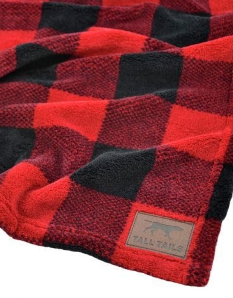 """Tall Tails TALL TAILS Holiday Fleece Blanket Hunter's Plaid 30x40"""""""