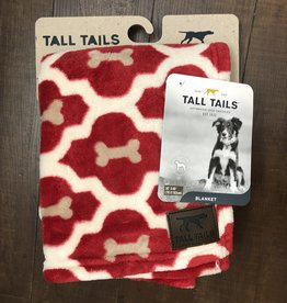 Tall Tails TALL TAILS Fleece Blanket Red Bone 30x40""