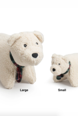 Hugglehounds Hugglehounds Holiday Squooshie Polar Bear Dog Toy Sm