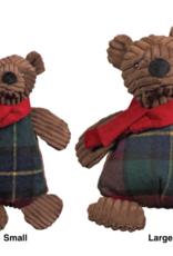 Hugglehounds Hugglehounds Holiday Chubbie Corduroy Brown Bear Dog Toy Sm