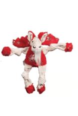 Hugglehounds Hugglehounds Holiday Knotties Glitz Moose Dog Toy Sm