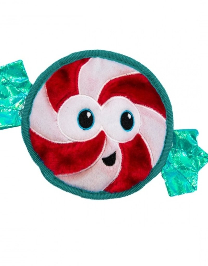 Outward Hound Outward Hound Holiday Invincibles Peppermint Dog Toy