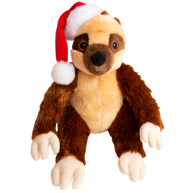 SnugArooz Snugarooz Holiday Sloth Sasha Claus Dog Toy