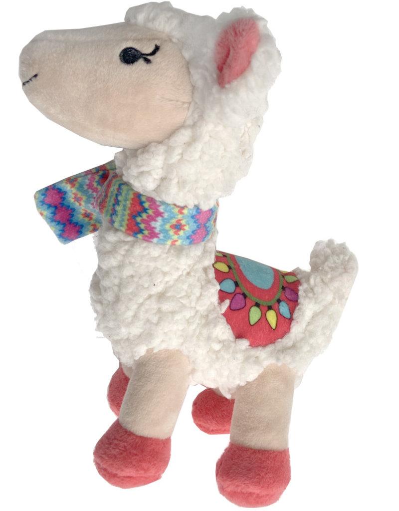 Lulubelles Lulubelles Power Plush Fa La Llama 2020 Dog Toy Small