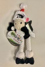 Worldwise/QPG/GoDog Godog Just For Me Skinny Cow Santa Dog Toy Small