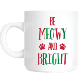 Pearhead Be Meowy & Bright Holiday Mug