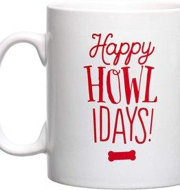 Pearhead Happy Howlidays Holiday Mug