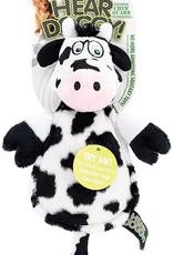 Worldwise/QPG/GoDog WW Hear Doggy Flats Cow Dog Toy