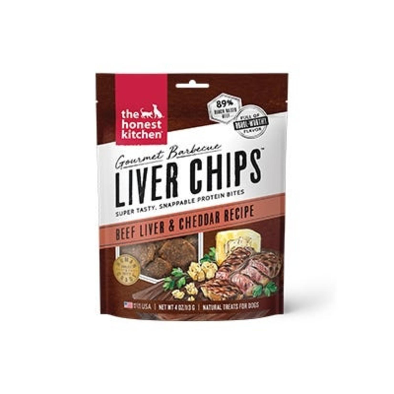 Honest Kitchen The Honest Kitchen Gourmet Barbecue Liver Chips Beef & Cheddar Dog Treats 4oz