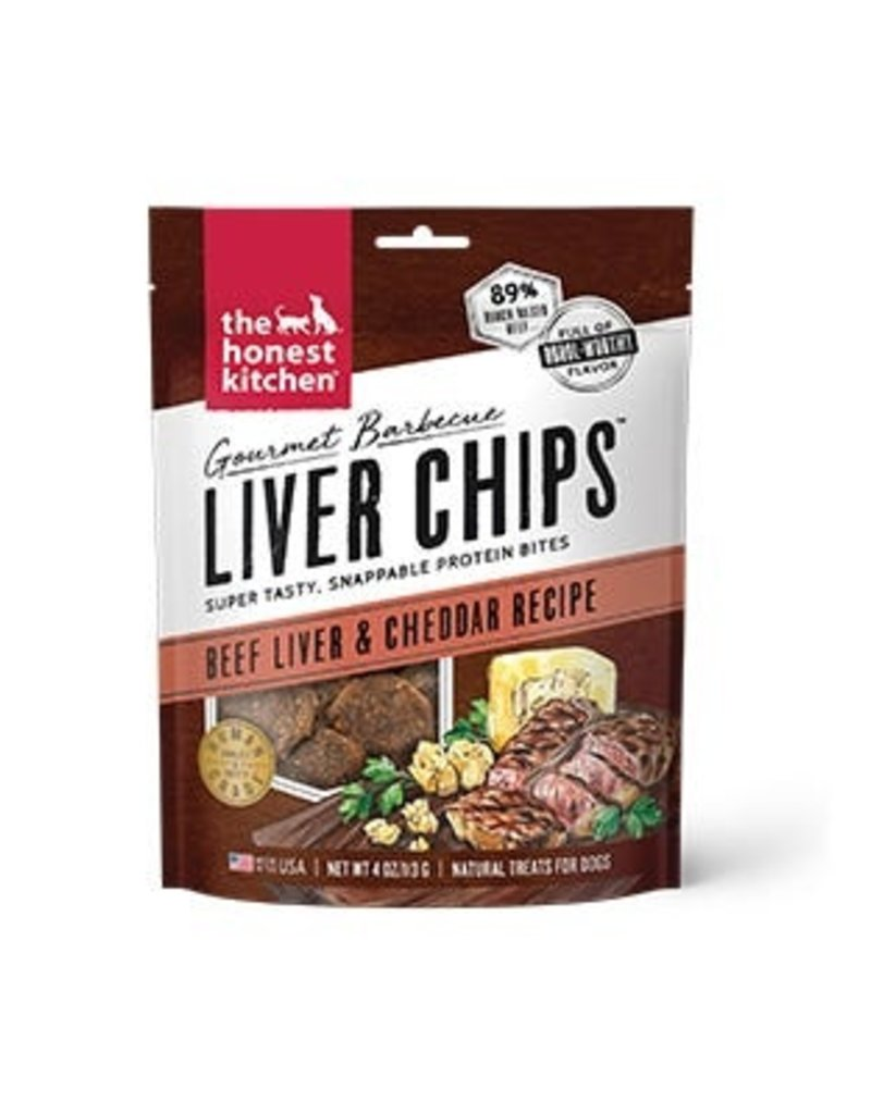 Honest Kitchen The Honest Kitchen Gourmet Barbecue Liver Chips Beef & Cheddar Dog Treats 4oz