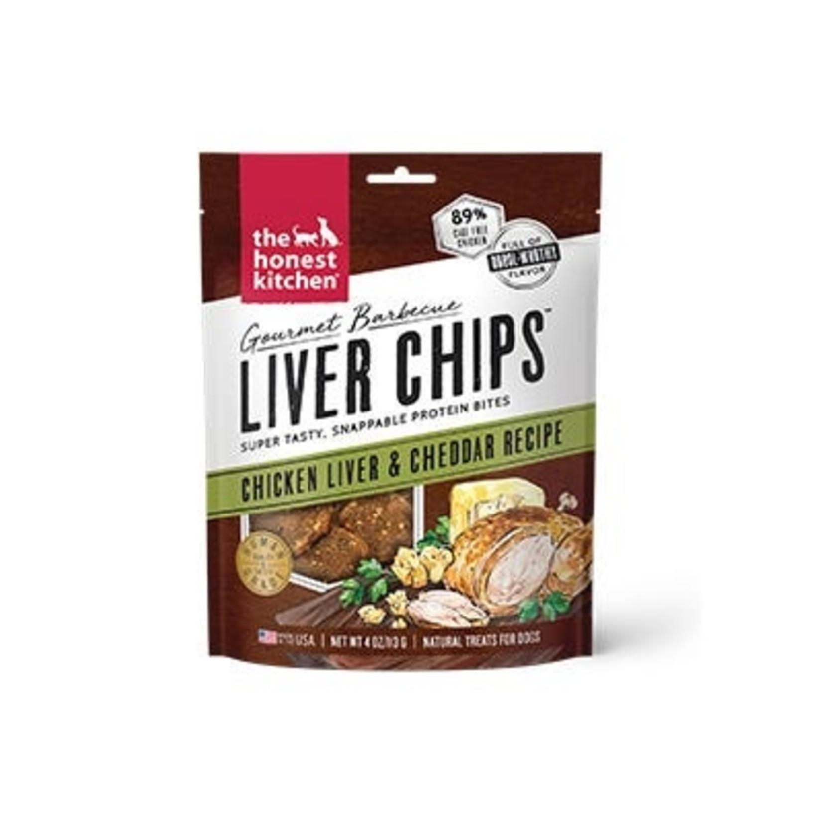 Honest Kitchen The Honest Kitchen Gourmet Barbecue Liver Chips Chicken & Cheddar Dog Treats 4oz