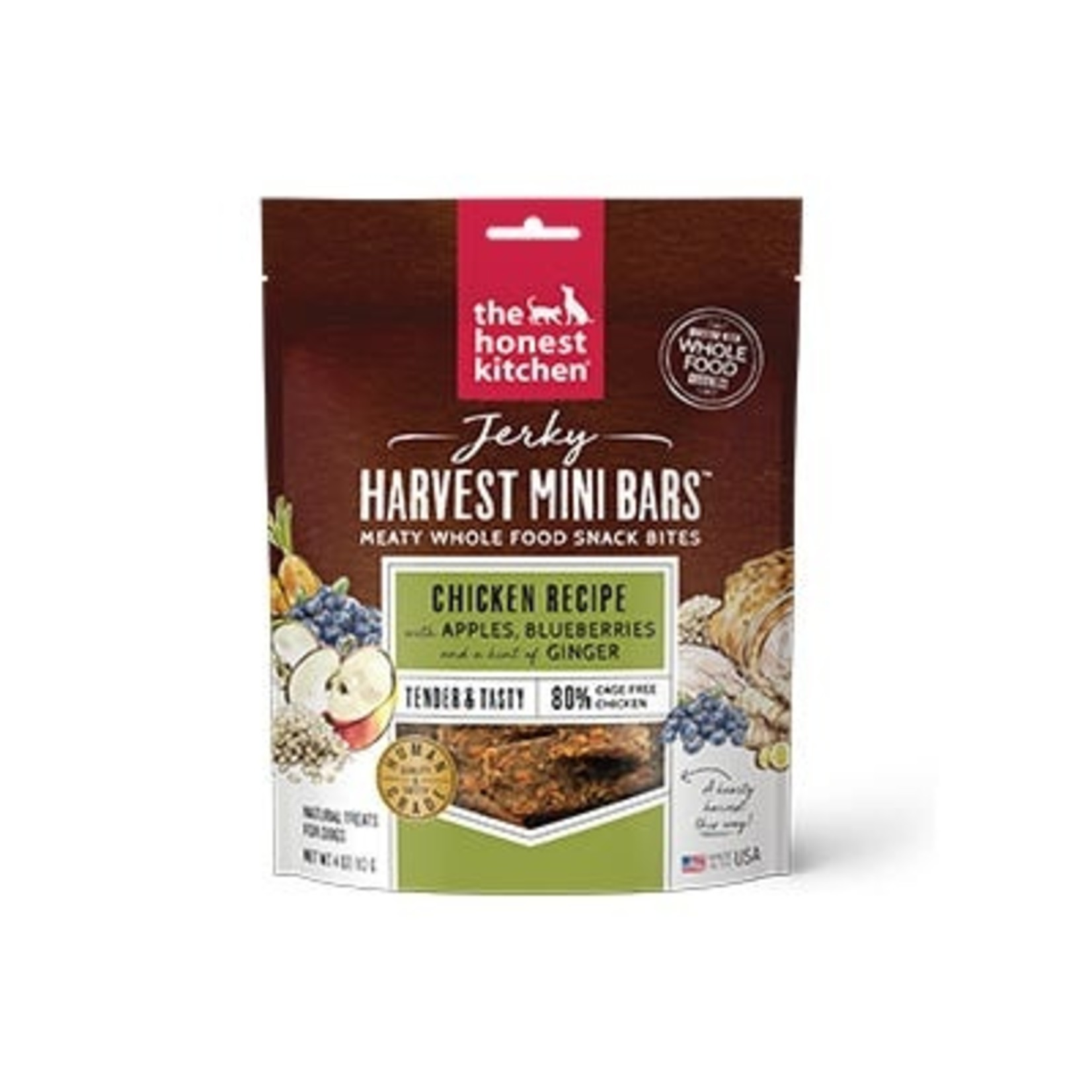 Honest Kitchen The Honest Kitchen Harvest Mini Bars Chicken Jerky Dog Treats 4oz