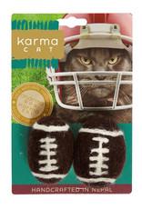 Dharma Dog Karma Cat Footballs Cat Toy 2 pk