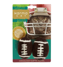 Dharma Dog Karma Cat Footballs Cat Toy 2 pk