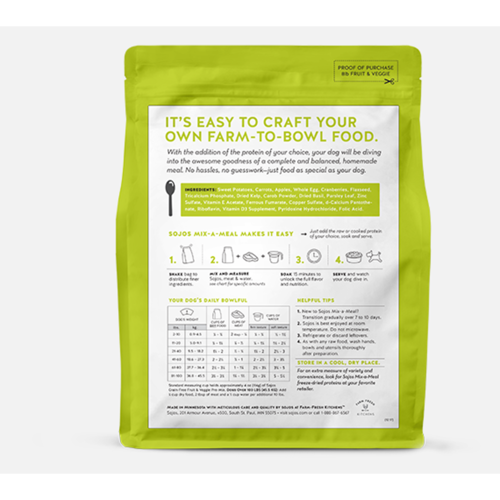 Sojos SOJOS Mix-a-Meal Grain-Free Recipe Pre-Mix Dog Food