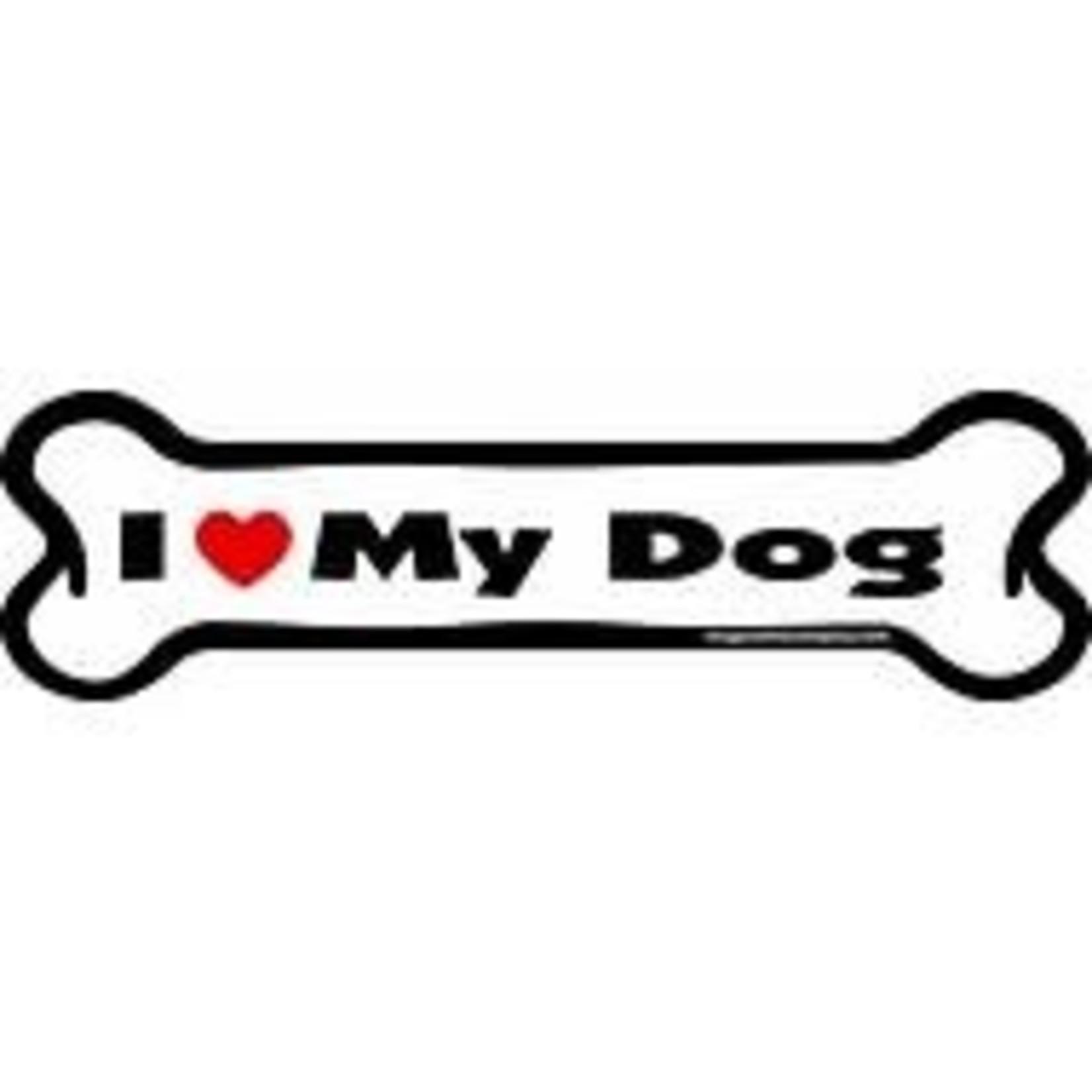 IMAGINETHIS Bone Magnet I Love My Dog