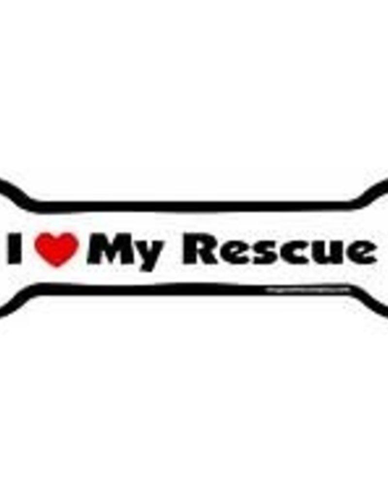 IMAGINETHIS Bone Magnet I Love My Rescue