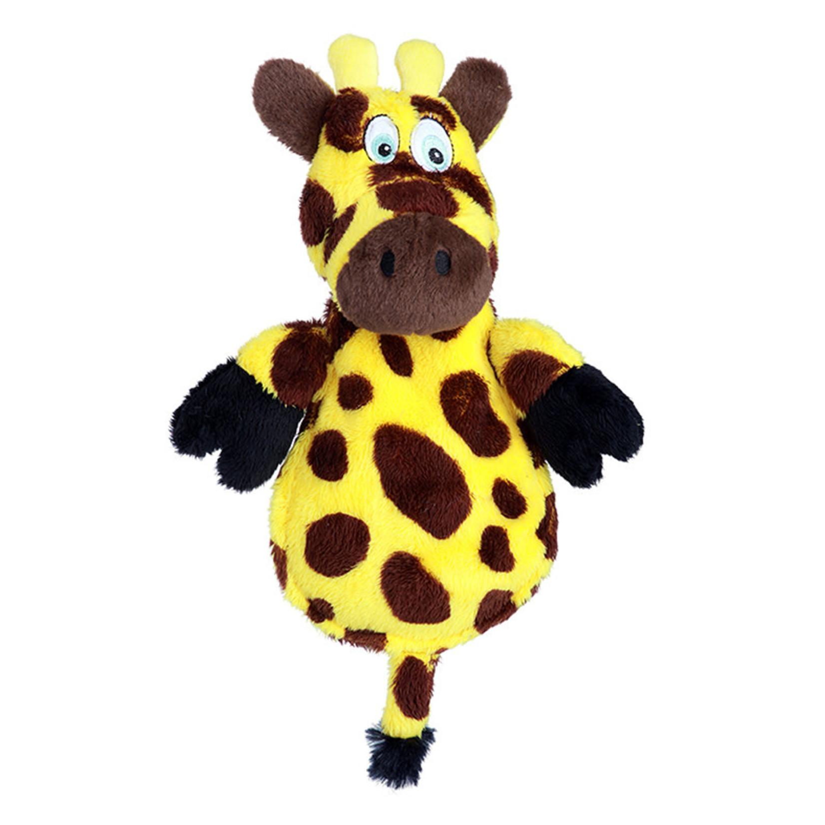 Worldwise/QPG/GoDog WW Hear Doggy Flats Giraffe Dog Toy