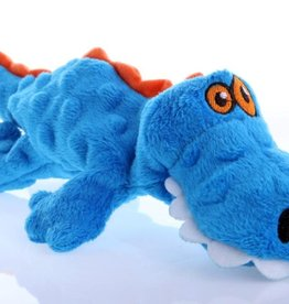 Worldwise/QPG/GoDog GoDog Just For Me Gator Dog Toy Blue
