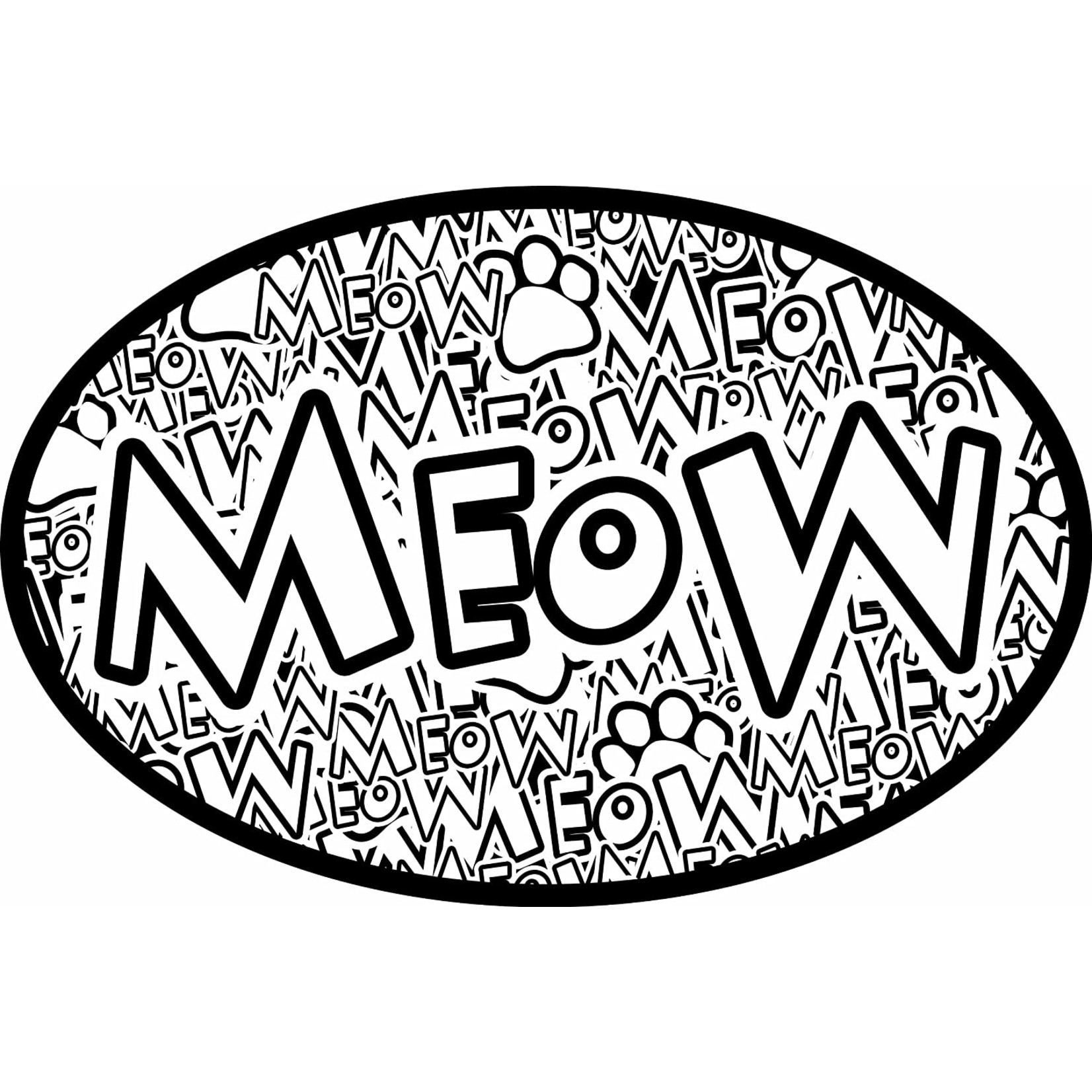 IMAGINETHIS Oval Pet Magnet Meow Crazy