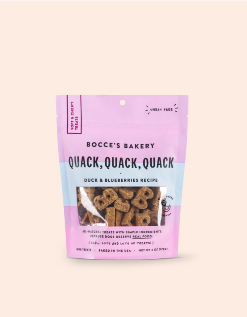 Bocce's Bocce's Bakery Soft & Chewy Quack Duck Dog Treats 6oz *Special Order*