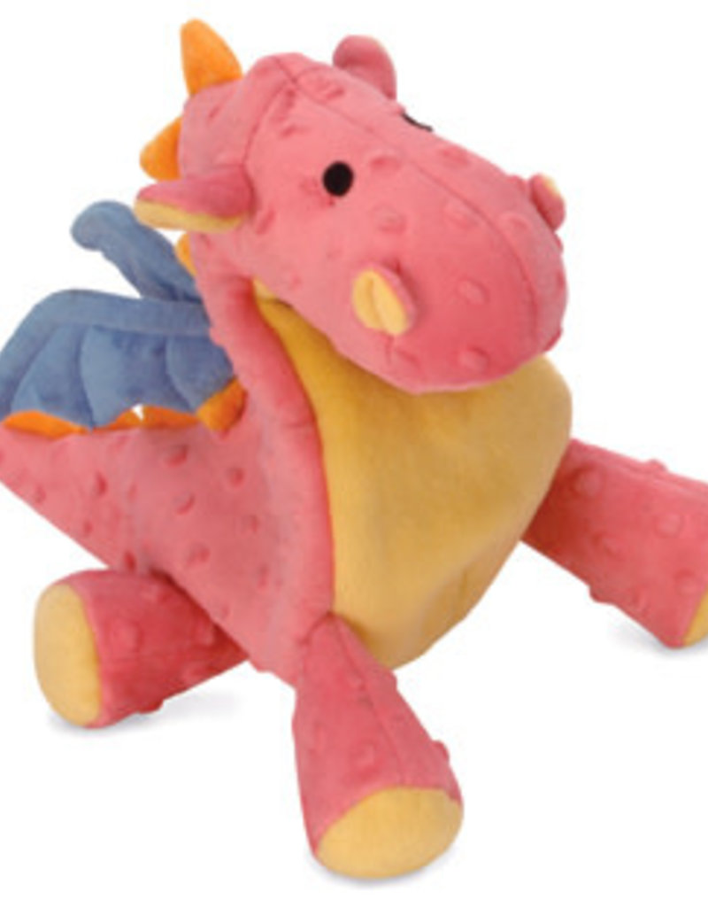 Worldwise/QPG/GoDog GODOG Dragon Coral Toy Dog Sm