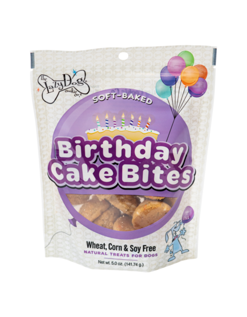 Lazy Dog Lazy Dog Birthday Cake Bites Dog Treat 5oz