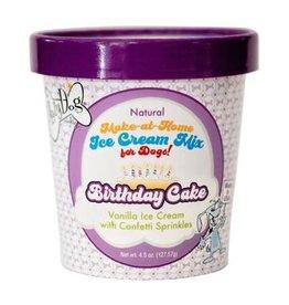 Lazy Dog Lazy Dog Ice Cream Mix Birthday Cake Flavor Dog Treat 4.5oz